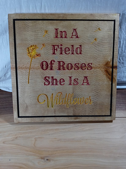 Field of roses plaque