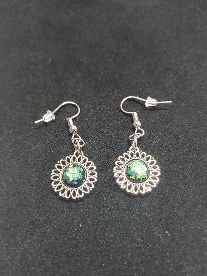 Small fancy stone earrings