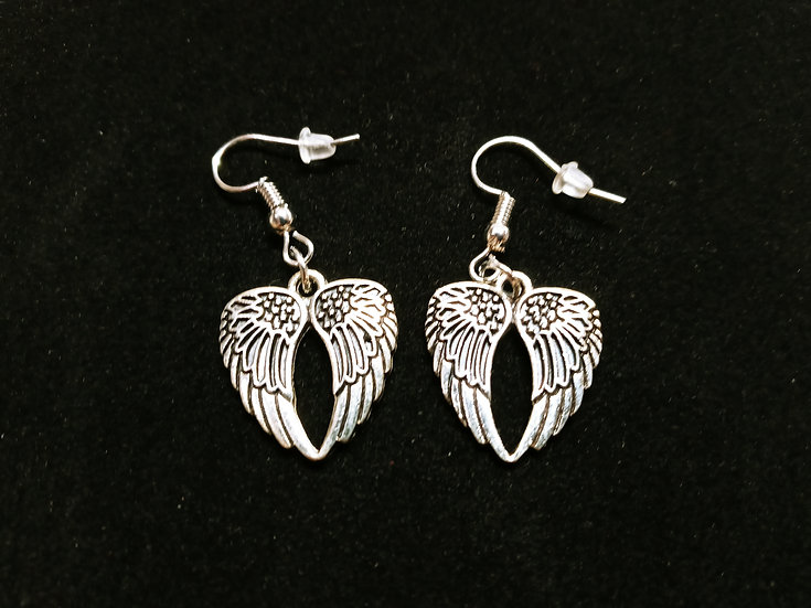 Spotted double wing earrings