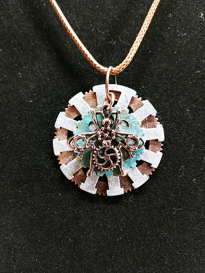 Steampunk bug necklace