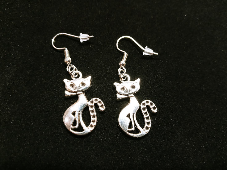 Tall cat earrings