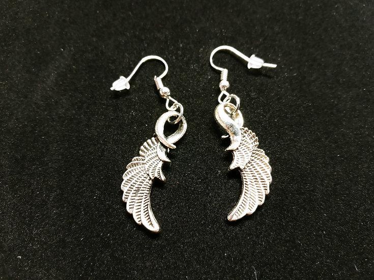 Ornate wing earrings