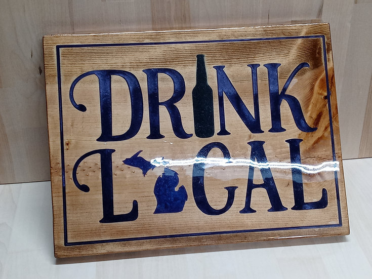 Drink Local Sign