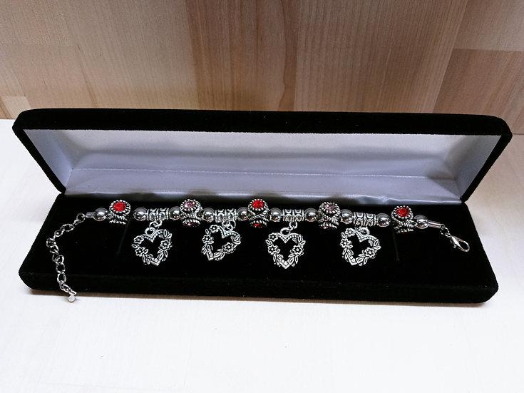 Hearts in bloom bracelet