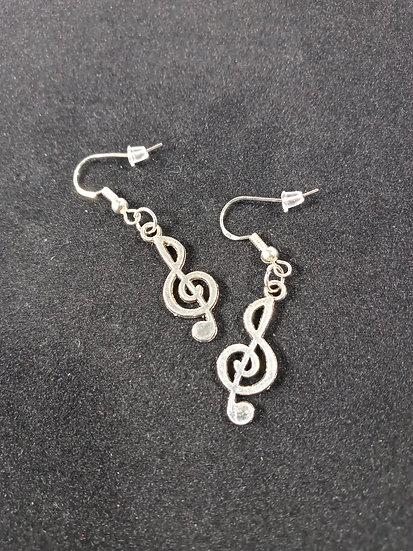 Treble cleft earrings