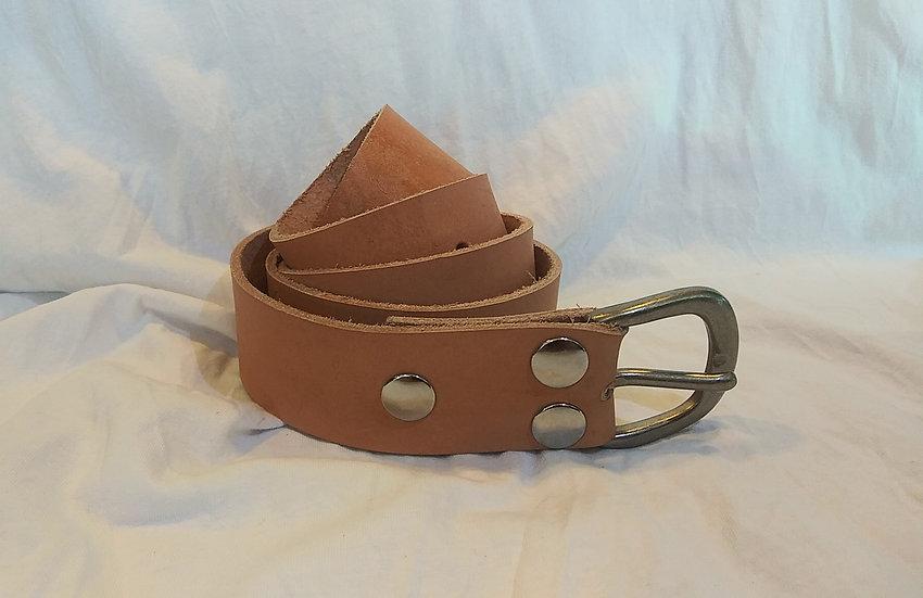 """Handmade Genuine Leather Belt W:1.5""""x L:45"""" (Plain W/ Buckle)"""
