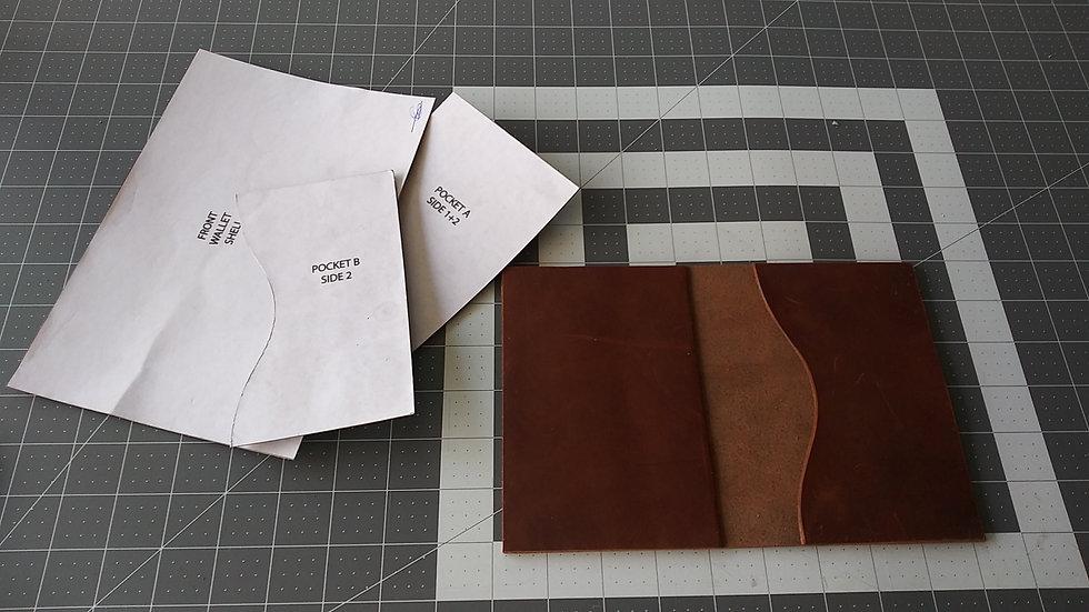 Crazy Horse Leather Passport Pattern Kit