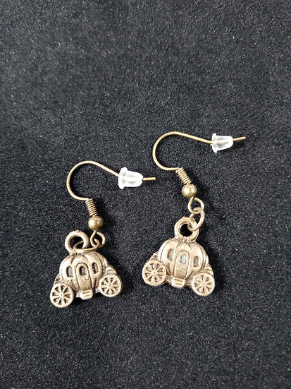 Pumpkin carriage earrings