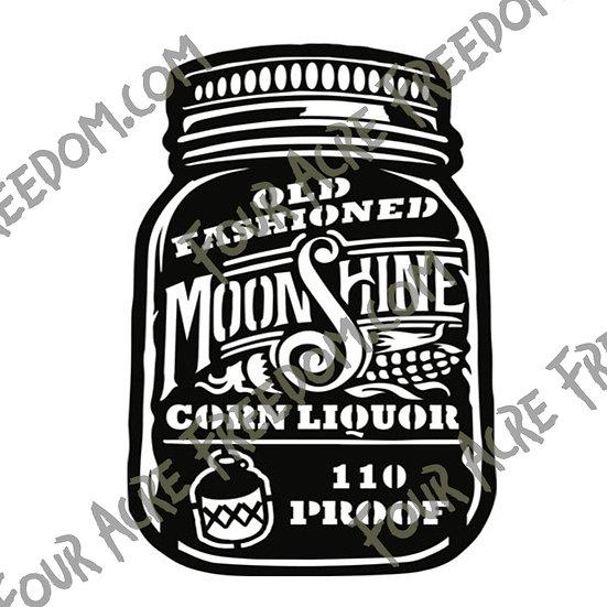 Moonshine Decal
