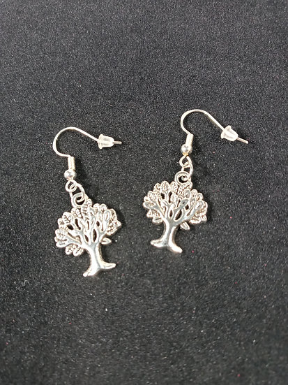 Small tree earrings