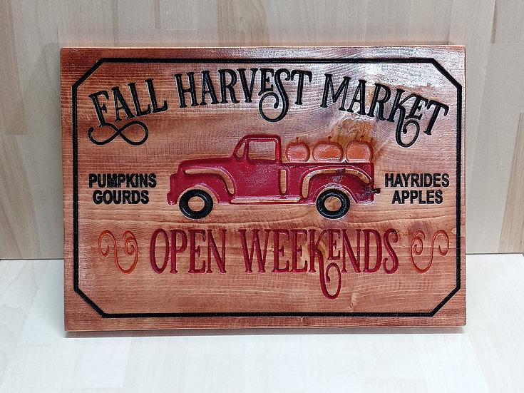 Fall Harvest Market sign