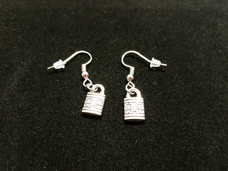 Padlock earrings