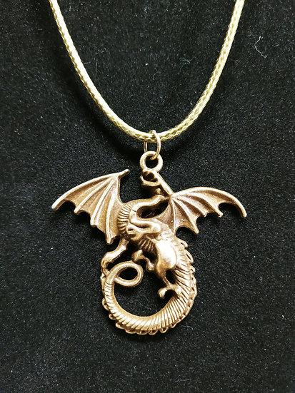 Bronze dragon necklace