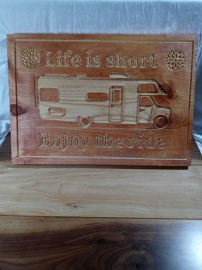 Enjoy the ride plaque