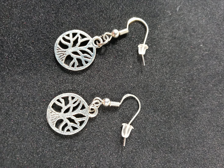 Small tree of life earrings