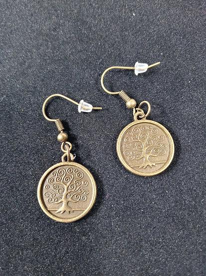 Fancy tree earrings