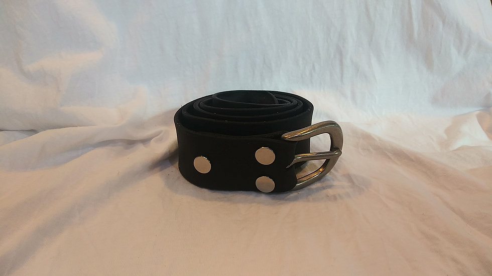 """Handmade Genuine Leather Belt W:1.5""""x L:45"""" (Black W/ Buckle)"""