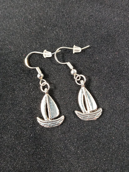 Sail boat earrings