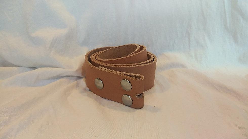 """Handmade Genuine Leather Belt W:1.5""""x L:45"""" (Plain W/ No Buckle)"""