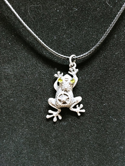 Steampunk frog necklace