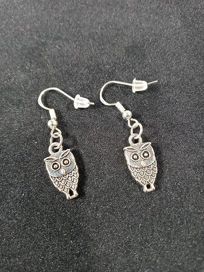 Small owl earrings