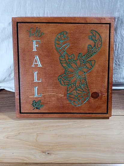 Hello Fall plaque