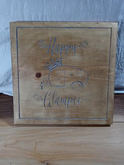 Happy Glamper wooden plaque