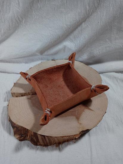 "4"" leather key/dice bowl"