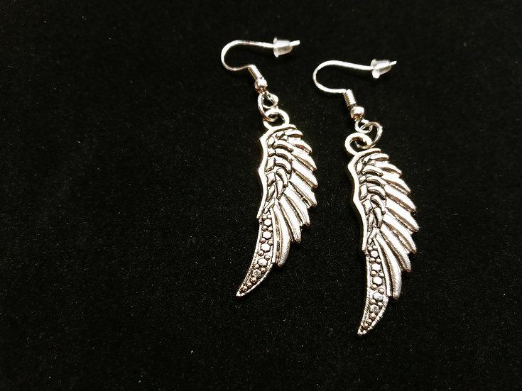 Medium spotted wing earrings
