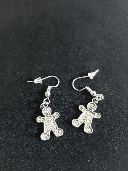 Little ginger bread cookie earrings