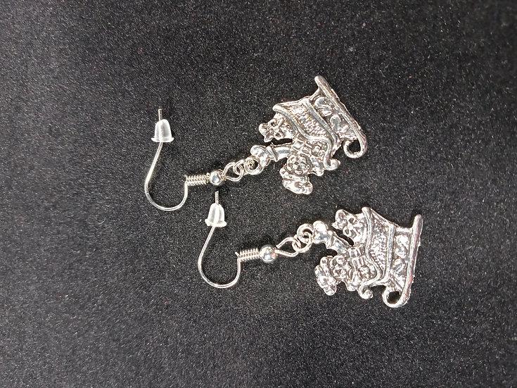 Holiday sleigh earrings