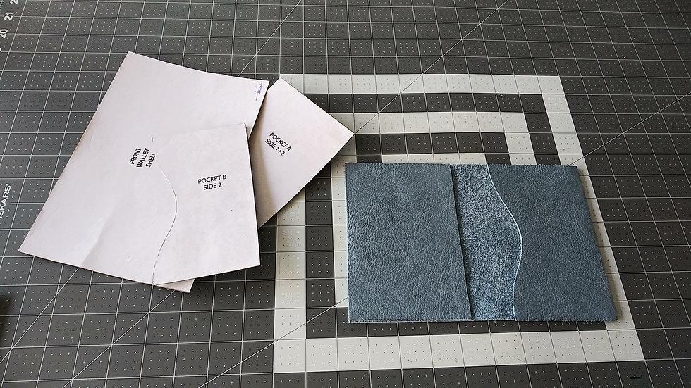 Sky Blue Suede  Passport Wallet Pattern Kit