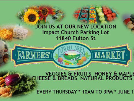 Come meet us at the Lowell, Michigan Farmers Market
