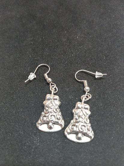 Detailed bell earrings