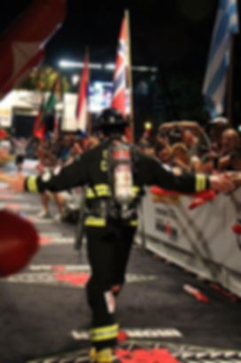 Fireman Rob Finishing Ironman Kona Triathlon World Championships