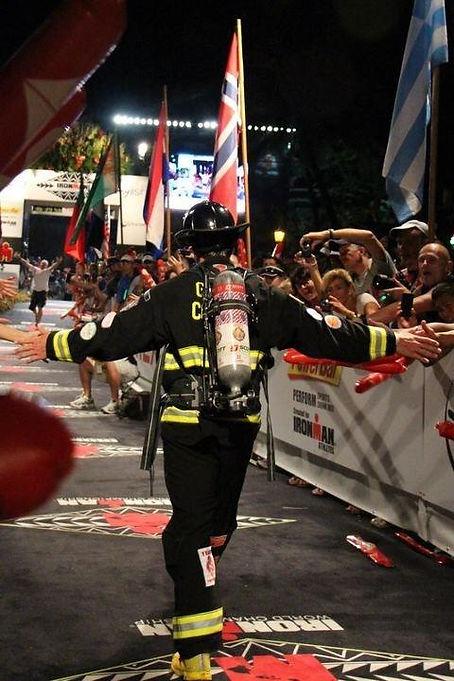 Fireman Rob Finishing Ironman Kona Triathlon World Championships