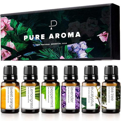 PURE AROMA 100% Pure Therapeutic Grade Oil Kit