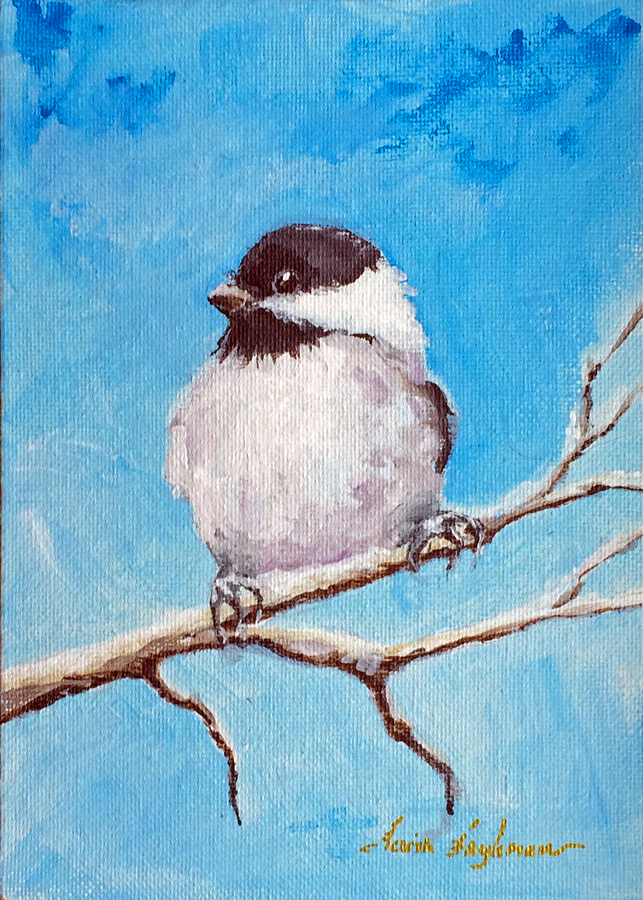 2016 Chickadee on Skinny Branch