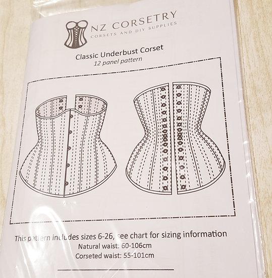 Curvy Classic Underbust Corset - PRINTED Pattern