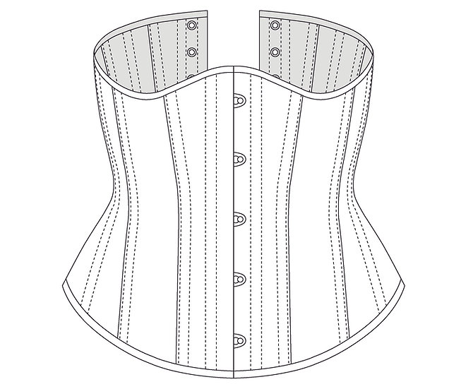 Simple Underbust Corset - Modest waist reduction- PDF Pattern