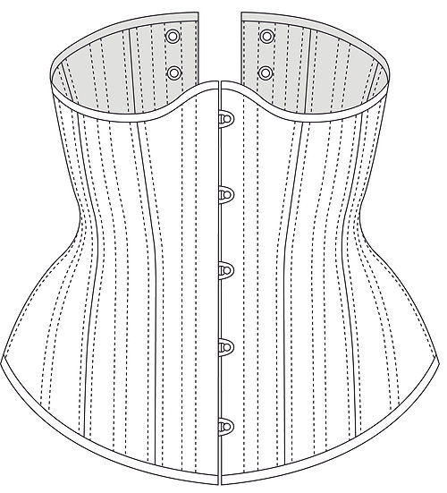 Curvy Classic Underbust Corset - PDF Pattern