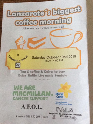 Lanzarote's Biggest Coffee Morning