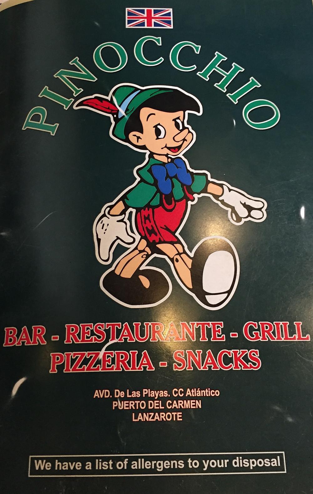 Pinocchio's restaurant Lanzarote