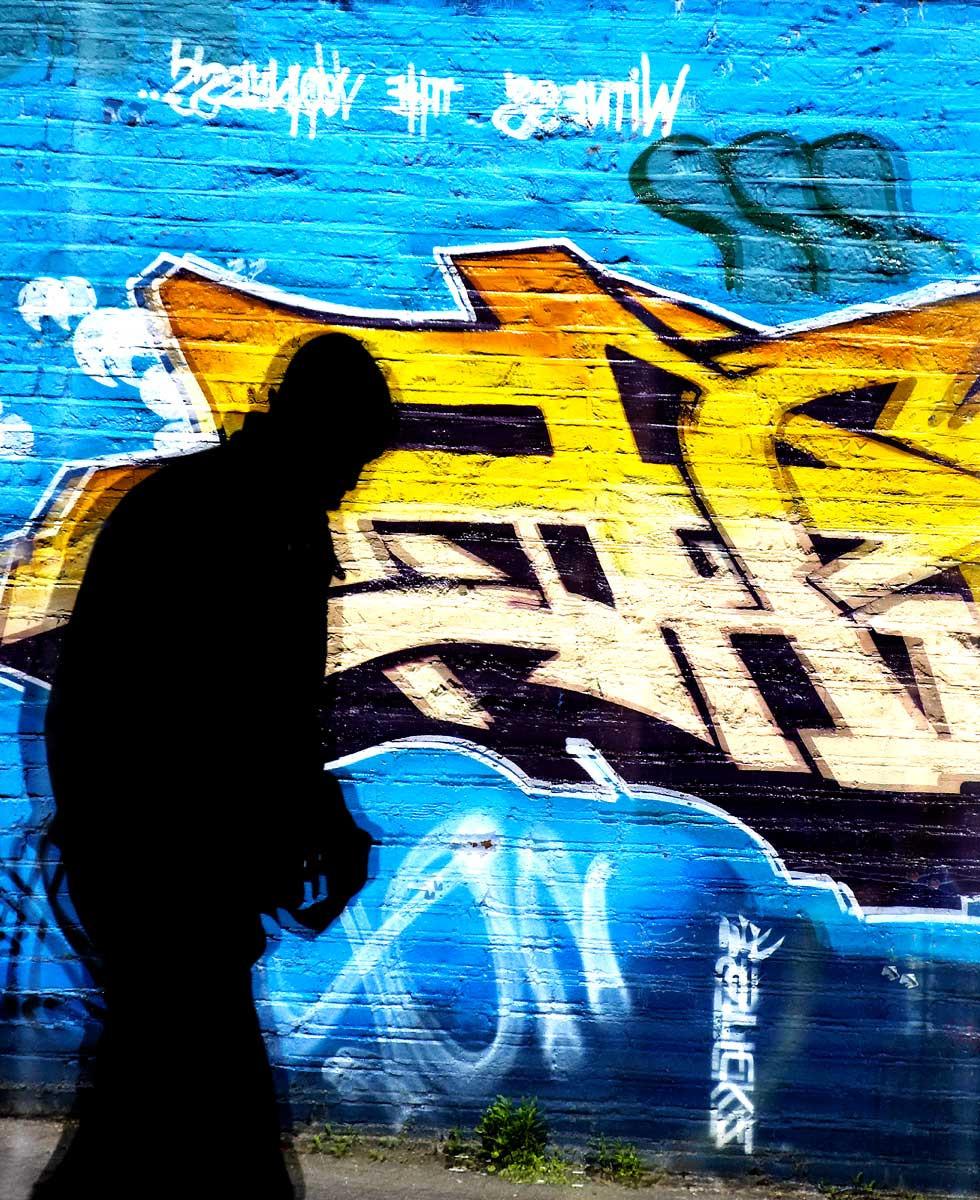 Urban Colours, Street Art, silhouette