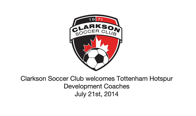 Promotional Video for Clarkson Soccer Club when Tottenham Hotspur development coaches came to Canada.