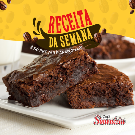 Brownie de Café Simonésia e Chocolate