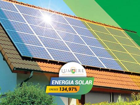 Energia Solar cresce 134,97% a mais no primeiro trimestre de 2019 do que em 2018