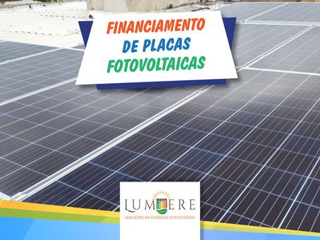 Financiamento de placas fotovoltaicas será liberado em setembro