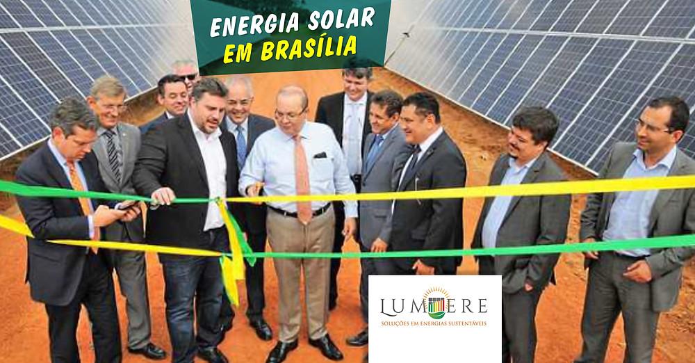 Governador Ibaneis Rocha inaugura, em Ceilândia, a maior usina de energia fotovoltaica do DF. Foto: Renato Alves/Agência Brasília
