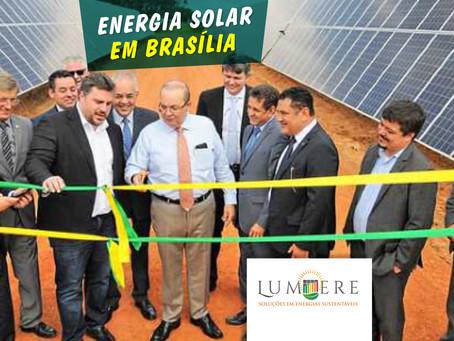 Desburocratização favorece instalação de usina de energia solar em Brasília